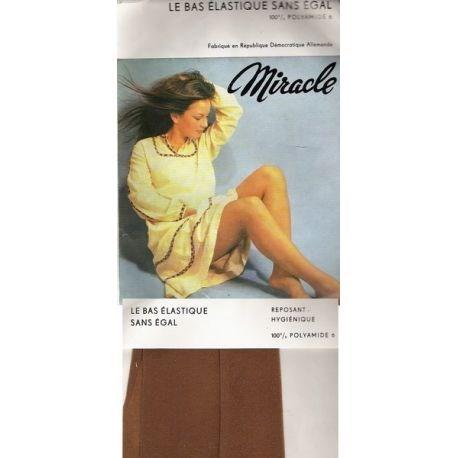 Miracle - Bas Mousse Vintage - Brun - T2