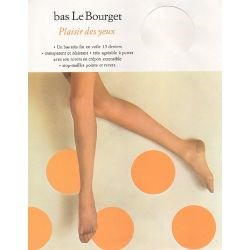 Le Bourget - Bas nylon vintage Plaisir des yeux - Noisette - T1