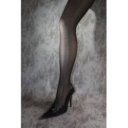Collants discount - Collants fantaisie - Noir - T3/4