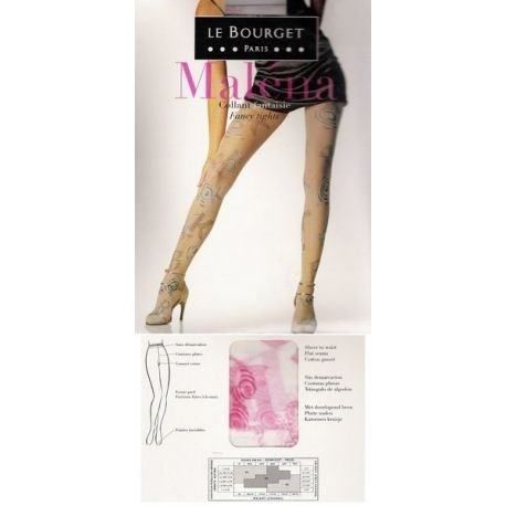 Le Bourget - Maléna - Collant fantaisie - Blanc/Rose - T2