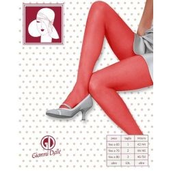 Gianni Dalé - Lot de 5 collants voile -15d - rouge -T1