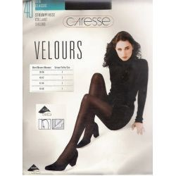 Caresse - Collant Opaque Velours - 40d - Marron - T1