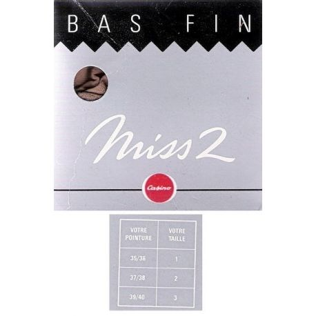 Miss2 - Casino - Bas Mousse - Beige - T1