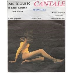 Cantale - Bas mousse vintage - 20d - Beige - T4