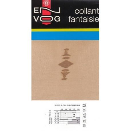 Envog - Collant Fantaisie - Beige - T1
