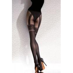 Collant fantaisie Fiore effet jarretelles - Noir - T3&4