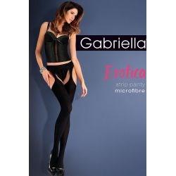 Gabriella Collant ouvert microfibre - Noir - T3