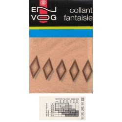 Envog - Collant Fantaisie - Losange - Naturel - T2