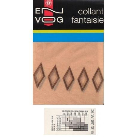 Envog - Collant Fantaisie - Losange - Naturel - T2