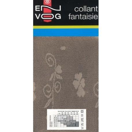 Envog - Collant Fantaisie - Motif floral - Beige - T1