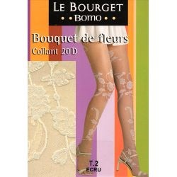 Le Bourget - Collants fantaisie- Ecru - T2