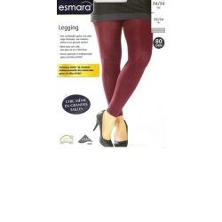 Jolinesse - Leggings Lycra 3D - Bordeaux - 54/56