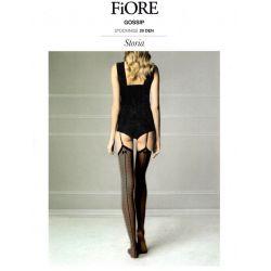 Fiore - Bas classiques fantaisie - Noir - T4