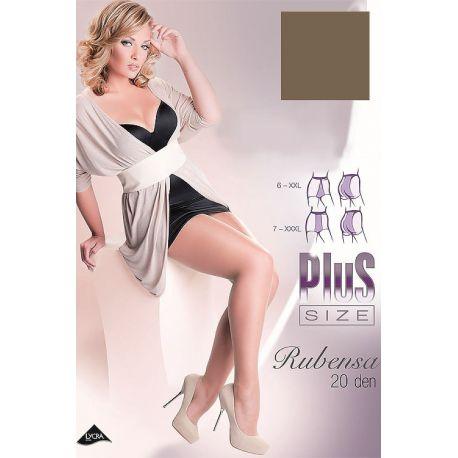 Gabriella - Collant plus size Rubensa 20d - Naturel - T6