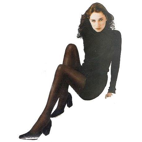 Caresse - Collant Opaque Confort - 50d - Noir - T3