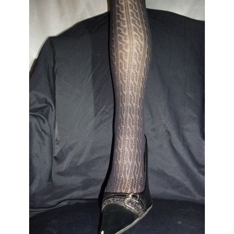 Giglio - Collant coton fantaisie - Noir - T4