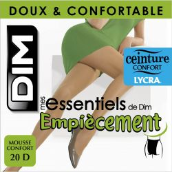 Dim - Collant Mes essentiels empiecement - 20d - Ambre - T5