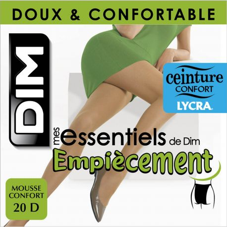 Dim - Collant Mes essentiels empiecement - 20d - Ambre - T4