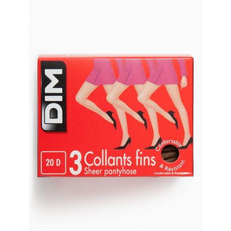 Dim - Lot de 3 collants fins - 20d - Palma - T2&4