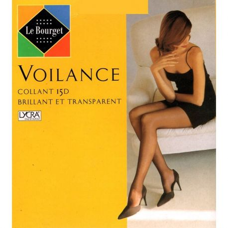 Le Bourget - Collant Voilance brillant et transparent - Cannelle - T3