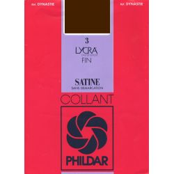 Phildar - Collant dynastie satiné - marron - T4-