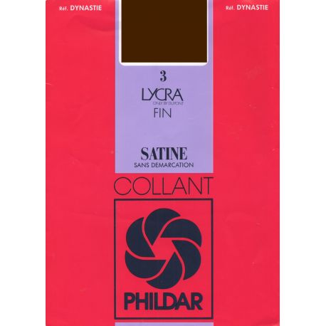 Phildr - Collant dynastie satiné - marron - T4-