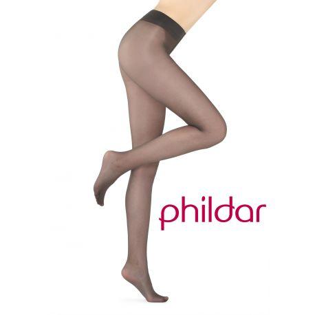 Phildr - Collant dynastie satiné - marron - T4-
