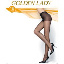 Golden Lady - Collant voile 15d - Noir - T4