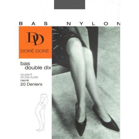 Doré Doré - Bas Nylon Double 10 - Oxford - T4