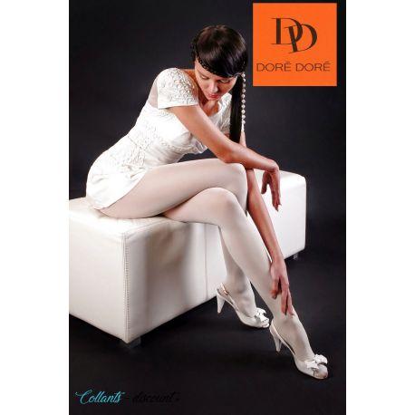 Doré Doré - Collant voile stretch - 20d - Blanc - T1