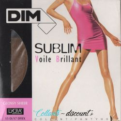 Dim - Collant voile Brillant - 15d - Gazelle - T2