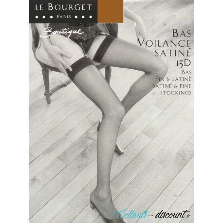 Le Bourget - Bas Voilance Satiné 15d - Cannelle - T2