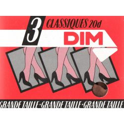 Dim - Lot de 3 collants mousse - 20d - Palma - T4