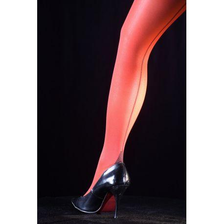 Chantal Thomass - Collant couture fashion - Rouge/Noir - T1