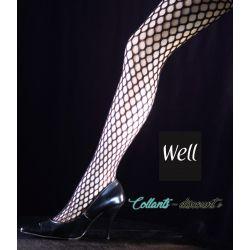 Well - Lot de 2 Collants FashionLine - Résille Bubble - Noir - T3/4