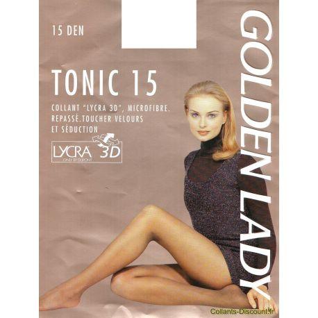 Golden Lady - Collant Tonic 15 - Castor - T3