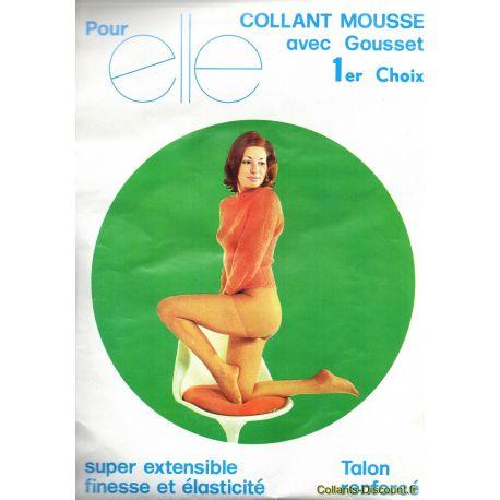 Pour Elle - Collant mousse vintage 20d - Beige - T2