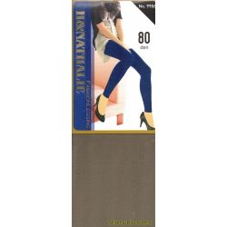 H&Nathalie - Collant opaque 80d - Kaki - T4