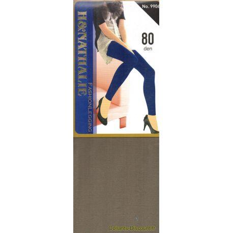 H&Nathalie - Collant opaque 80d - Kaki - T4