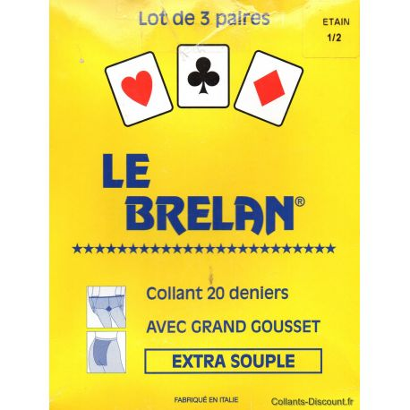 Le Brelan - LOT de 3 paires de collants - Etain - T2