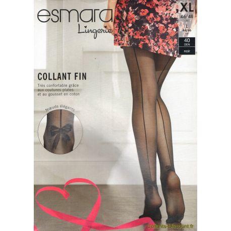Esmara - Collant couture fantaisie - Noir - T5