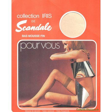 Scandale - Bas Iris vintage - Brun - T2