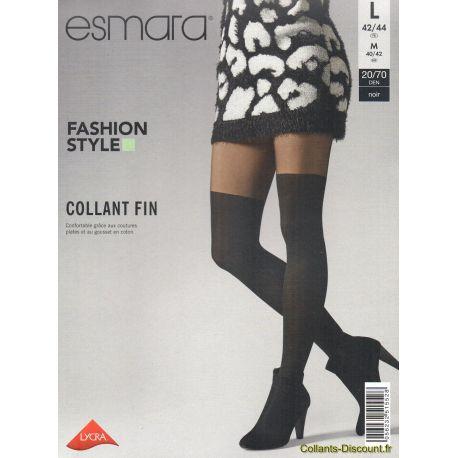Esmara - Collant Fashion Style - Noir - T4