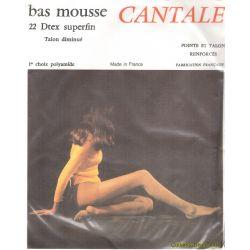 Cantale - Bas mousse Vintage - 20d - Beige - T3