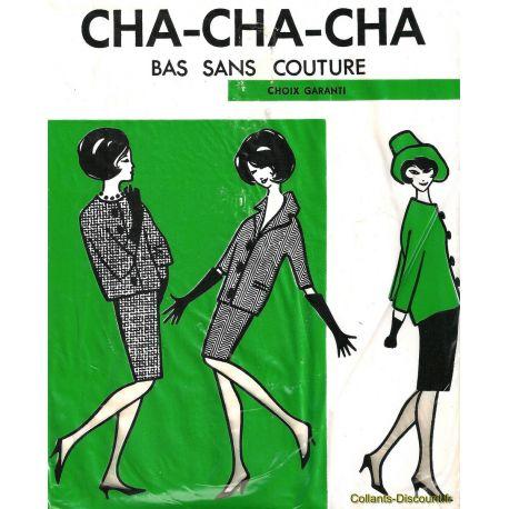 Cha-Cha-Cha Bas nylon vintage - Marron - T3