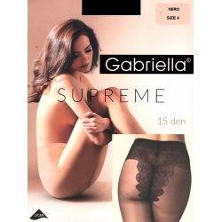 Gabriella - Collant voile 15 deniers - Noir - T4