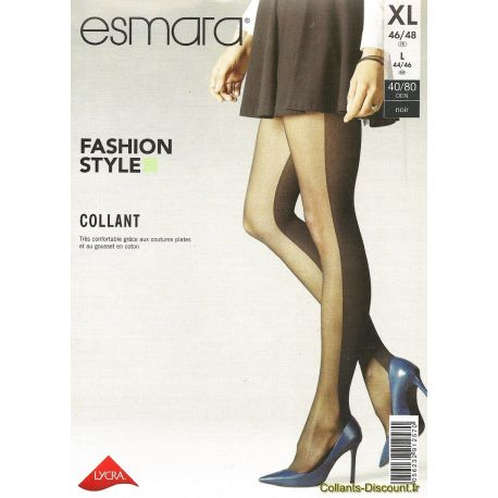 Esmara - Collant fashion style - Noir - T5