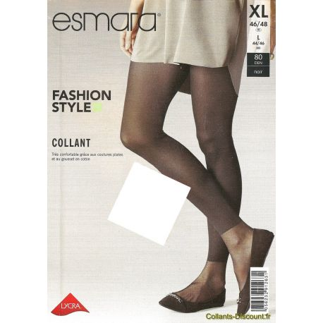 Esmara - Fashion Style - Collant effet legging - Noir - T5