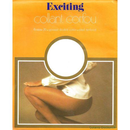 Exciting - Collant Vintage Corfou - Marron - T0