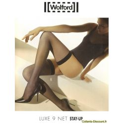 Wolford - Bas Luxe 9 Net Stay Up - Mocca - T4